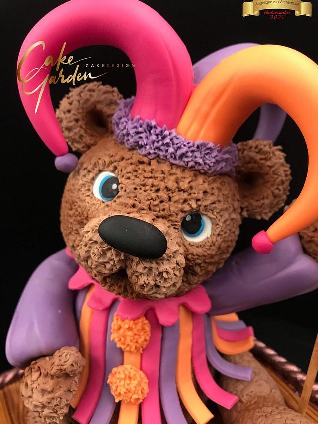 Harlequin bear, teddy bear Challenge