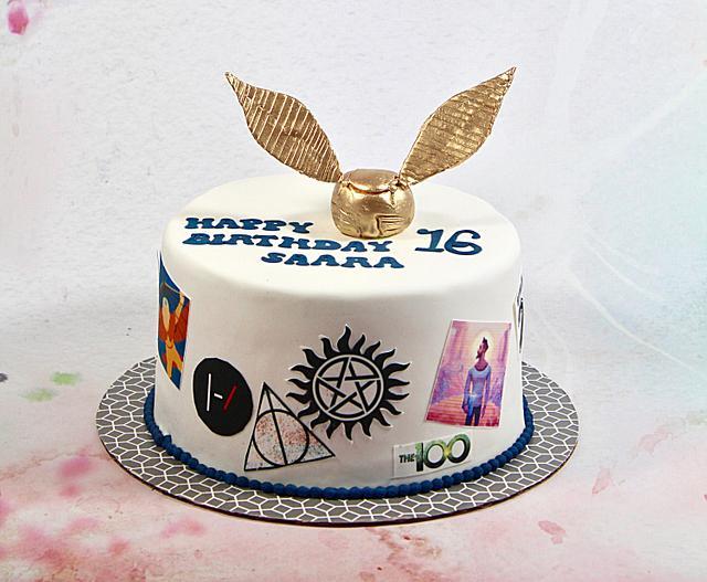 Awe Inspiring 16Th Birthday Cake Cake By Soods Cakesdecor Funny Birthday Cards Online Alyptdamsfinfo