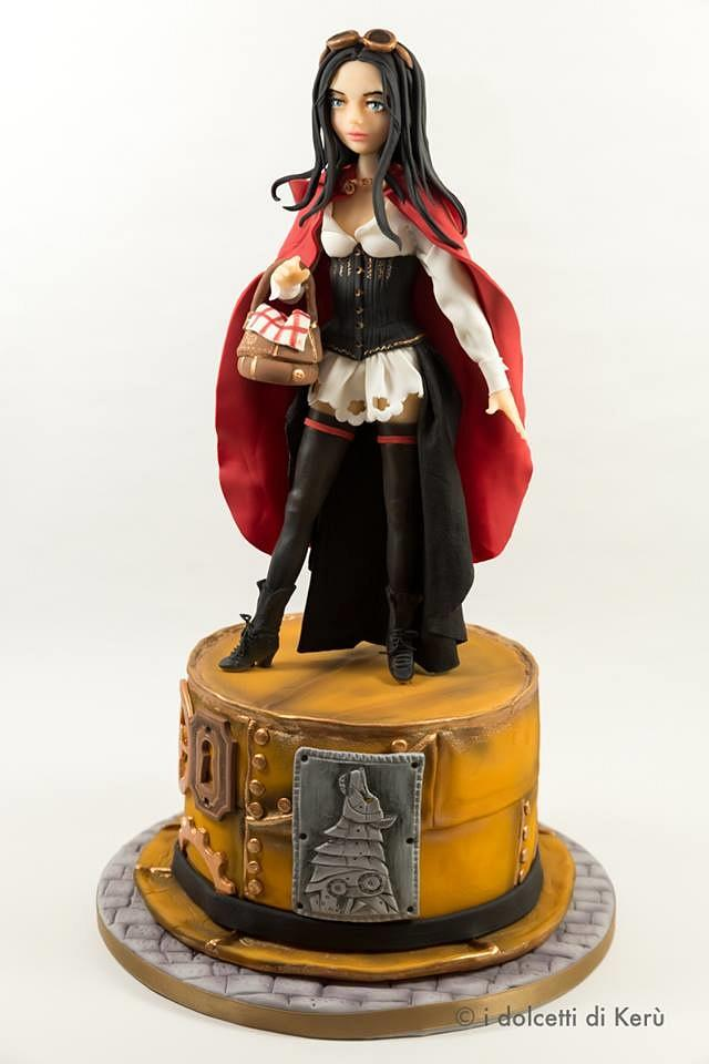 Little Red Riding Hood and the Wolf steampunk