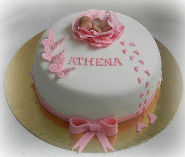 Naming cake for little Athena