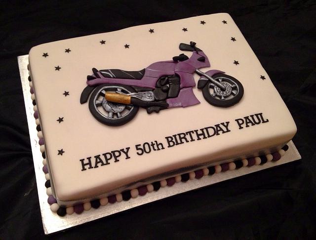 Pleasing 2D Motorcycle Birthday Cake Cake By Caron Eveleigh Cakesdecor Funny Birthday Cards Online Alyptdamsfinfo