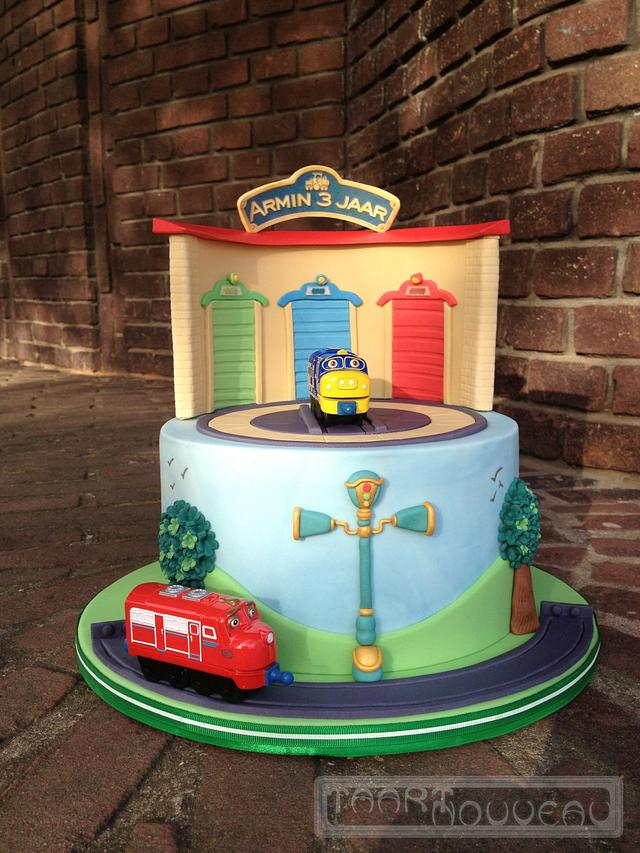 Wondrous Chuggington Cake Cake By Barbara Hoogendoorn Taart Cakesdecor Funny Birthday Cards Online Overcheapnameinfo