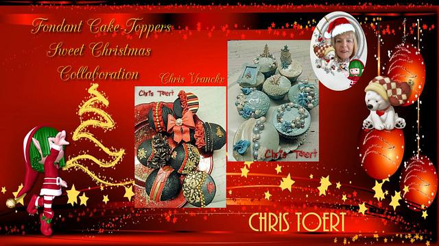 Fondant Cake Topper Sweet Christmas Collaboration