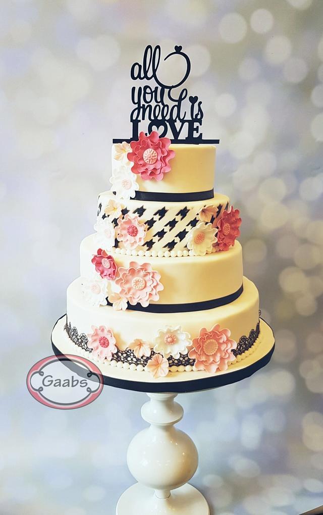 Pied de poule cake