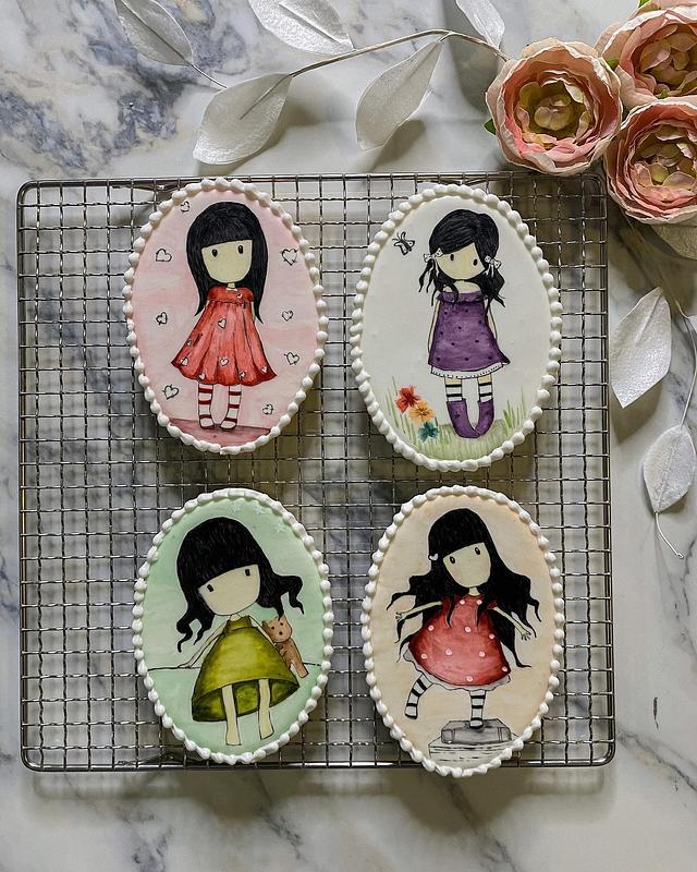 Handpainted sugar cookies