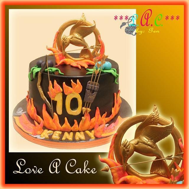 Excellent Hunger Games Themed Birthday Cake Cake By Genzloveacake Cakesdecor Funny Birthday Cards Online Elaedamsfinfo