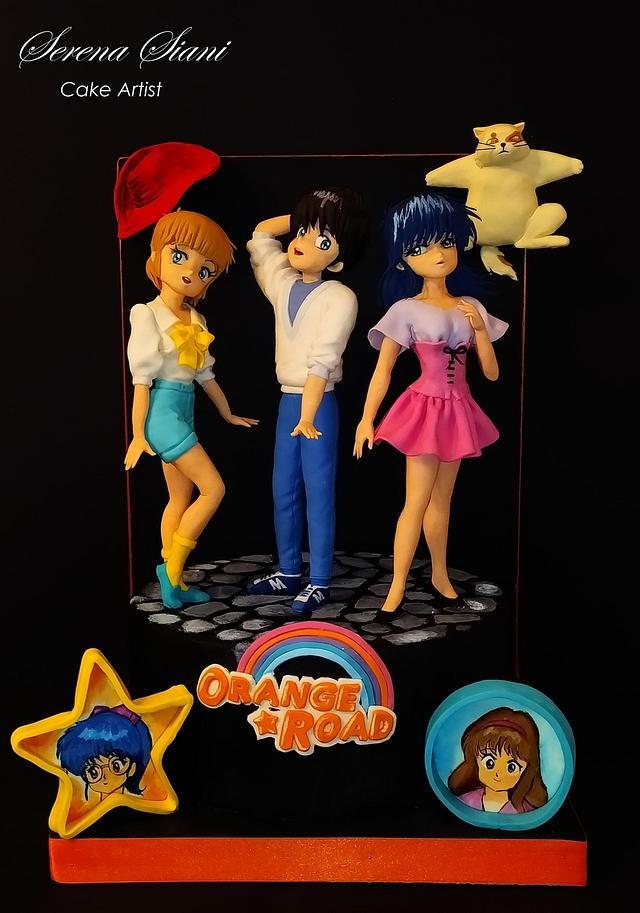 """Orange road"" for Sugar Artist League 80's cartoons Collaboration"
