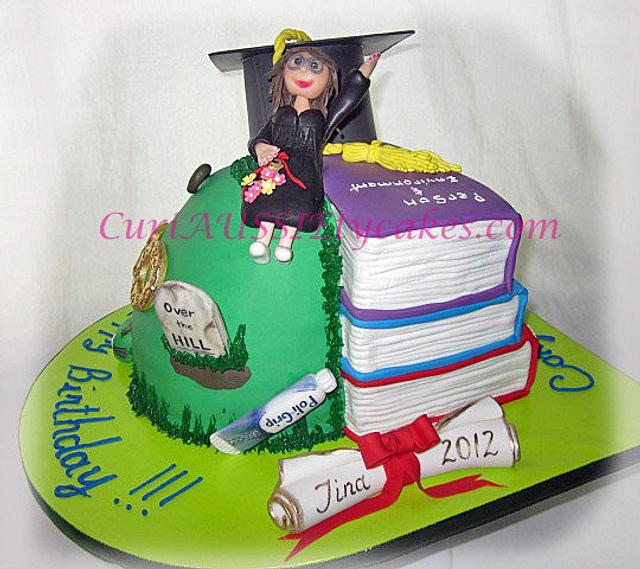 Graduation / 50th birthday mash-up cake