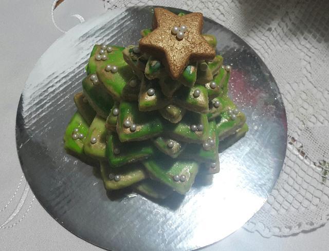 3D- Christmas Tree Cookie