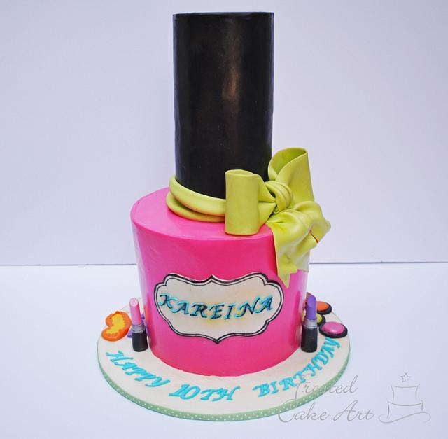 Astounding Nail Polish Cake Cake By Seema Acharya Cakesdecor Funny Birthday Cards Online Inifodamsfinfo