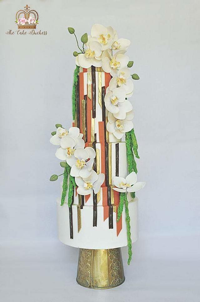Contemporary Art Wedding Cake