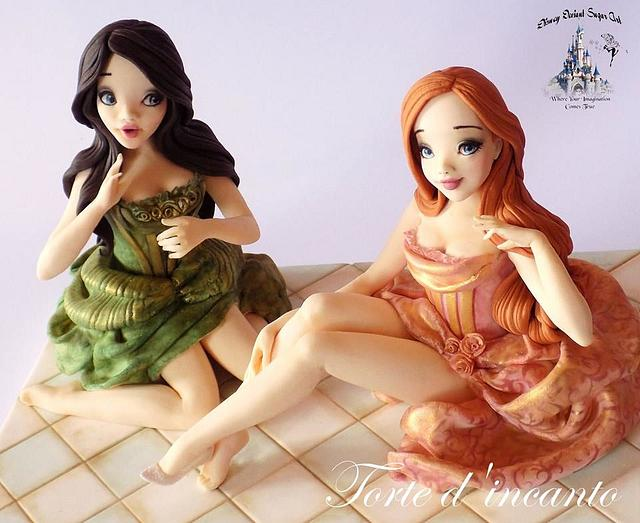 """Anastasia and Drizella"" for Disney Deviant Sugar Art Collaboration"