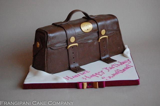 Brown Handbag Cake