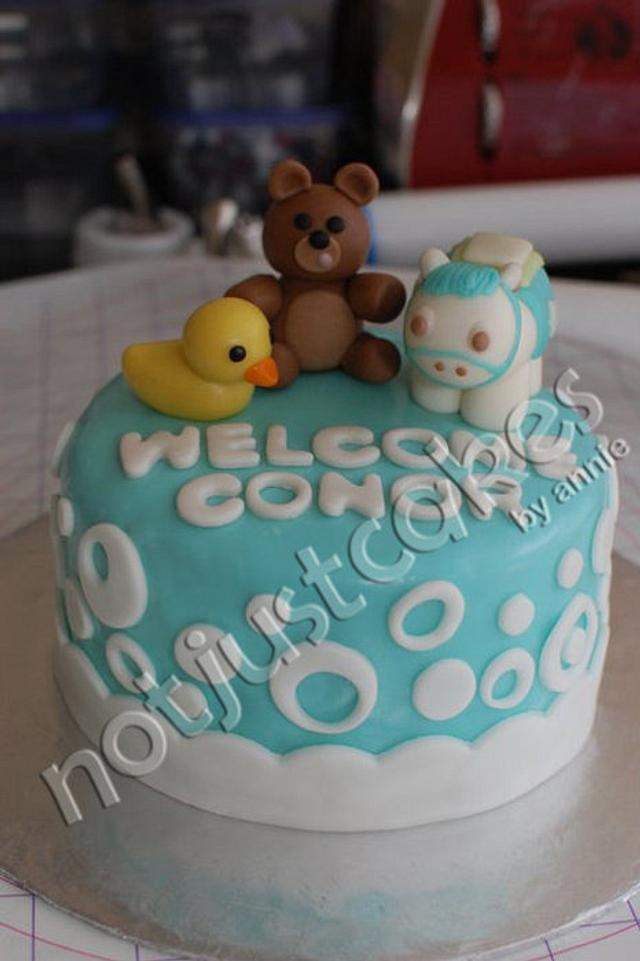 Boy Baby Shower Cake and Cupcakes