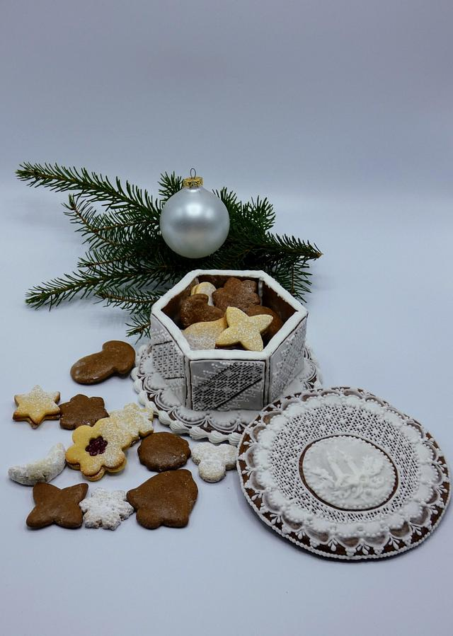 Cookie box of gingerbread