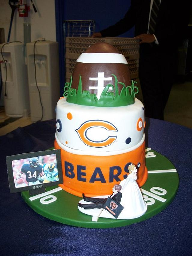 Incredible Chicago Bears Grooms Cake Cake By Melissa D Cakesdecor Funny Birthday Cards Online Fluifree Goldxyz