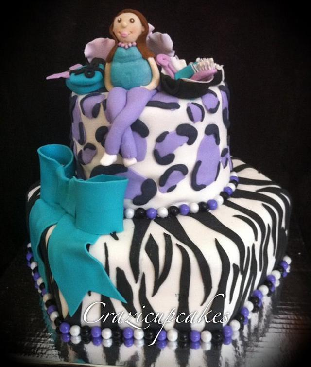 Wild baby shower cake