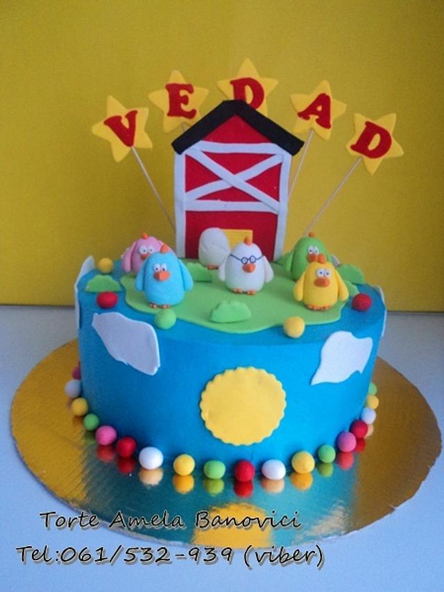 Chickens cake