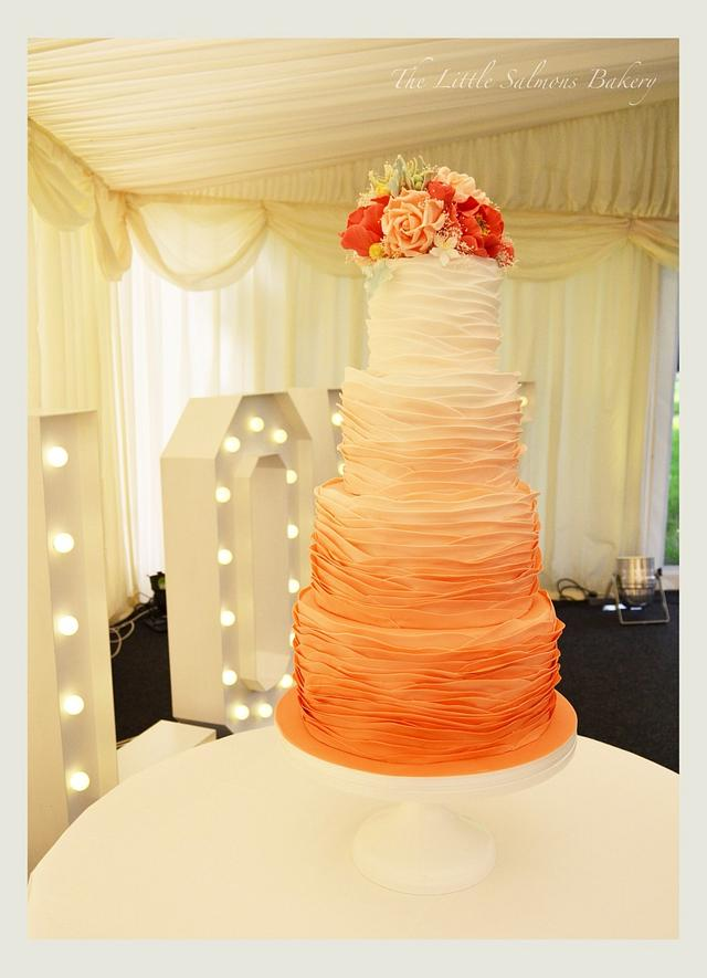 Ombré ruffles for THE most beautiful couple