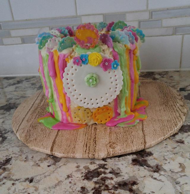 HAPPY BIRTHDAY 🌼 SPRING CAKE
