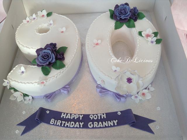 Enjoyable 90Th Number Birthday Cake Cake By Sweet Lakes Cakes Cakesdecor Personalised Birthday Cards Akebfashionlily Jamesorg