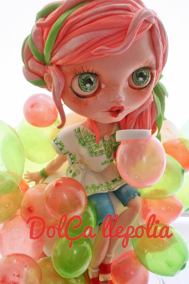 Blythe Bubble Birthday Cake