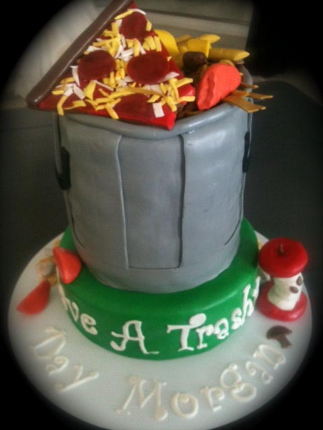 Trash Can Cake