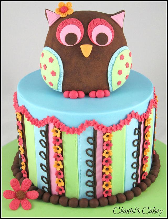 Colourful Owl Cake