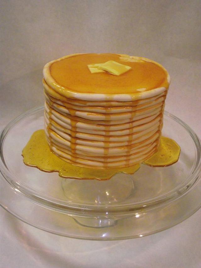 Stack of Pancakes Cake!