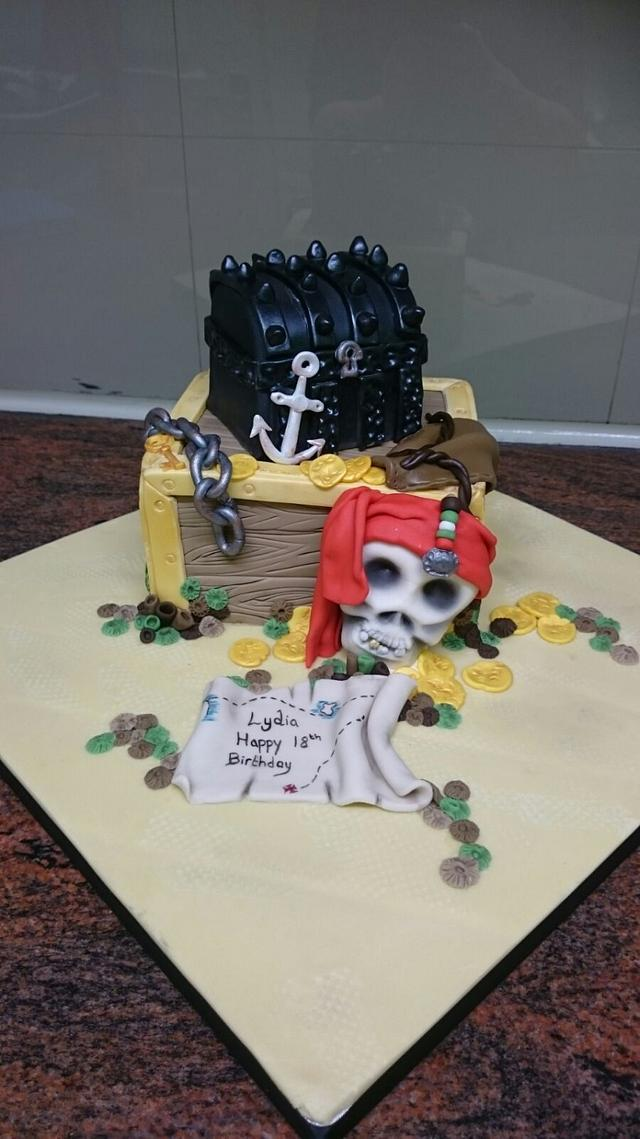 Wondrous Pirates Of The Caribbean Cake By Christine Cakesdecor Funny Birthday Cards Online Aeocydamsfinfo