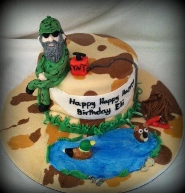 Astonishing Duck Dynasty Birthday Cake Cake By Angel Rushing Cakesdecor Personalised Birthday Cards Veneteletsinfo