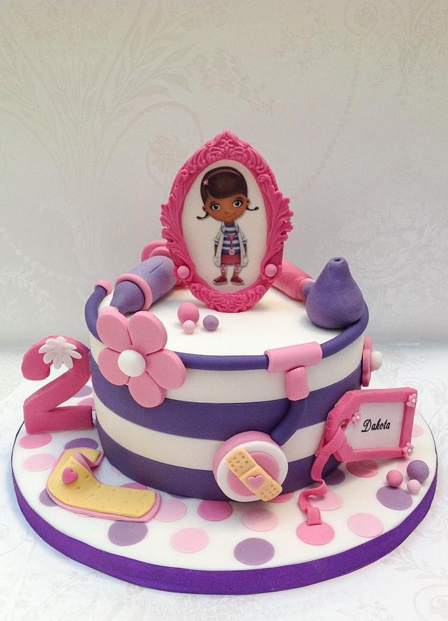 Sensational Doc Mcstuffin Themed Birthday Cake Cake By Samanthas Cakesdecor Funny Birthday Cards Online Elaedamsfinfo