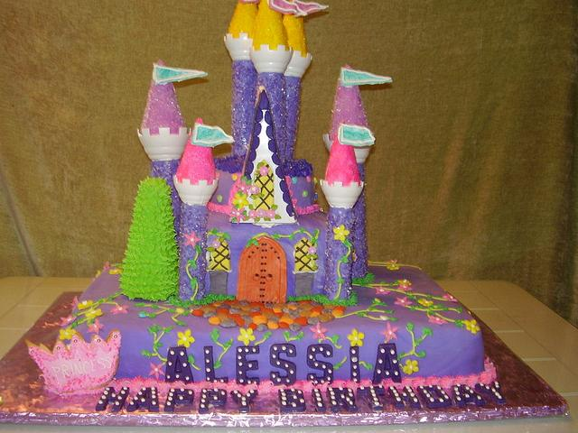 Castle cake from Enchanted Cakes On FB
