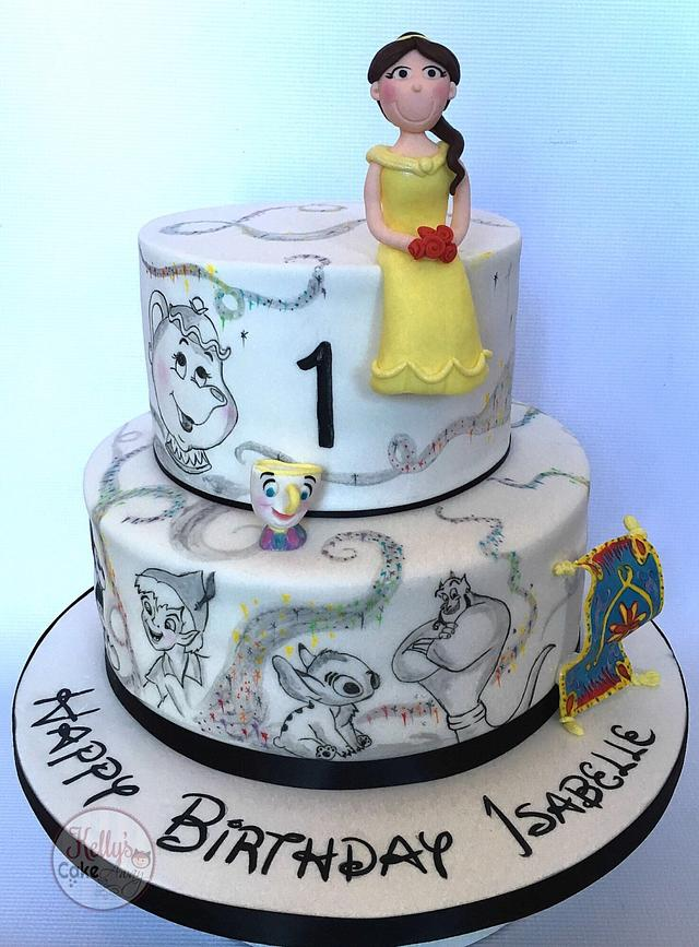 Painted character cake