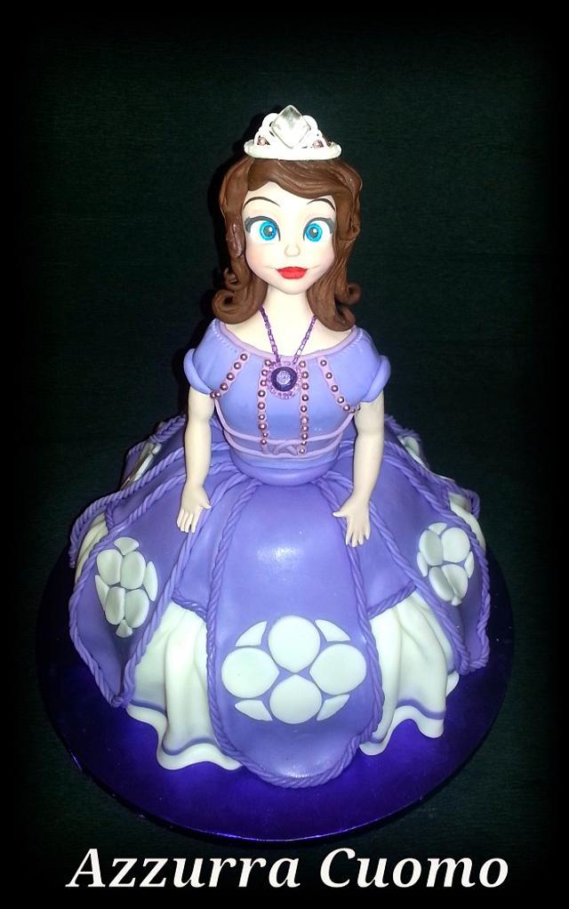 Surprising Princess Sofia The First Birthday Cake Cake By Cakesdecor Funny Birthday Cards Online Fluifree Goldxyz