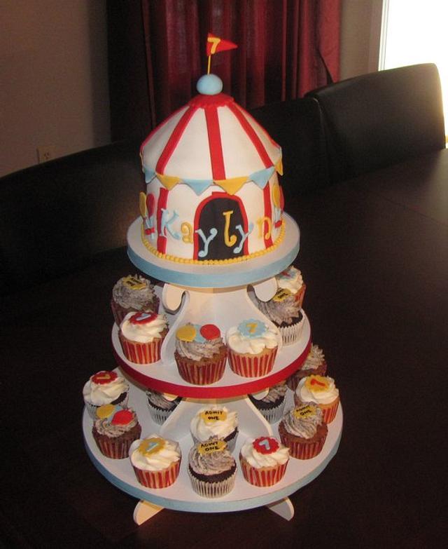 Carnival Cupcake Tower