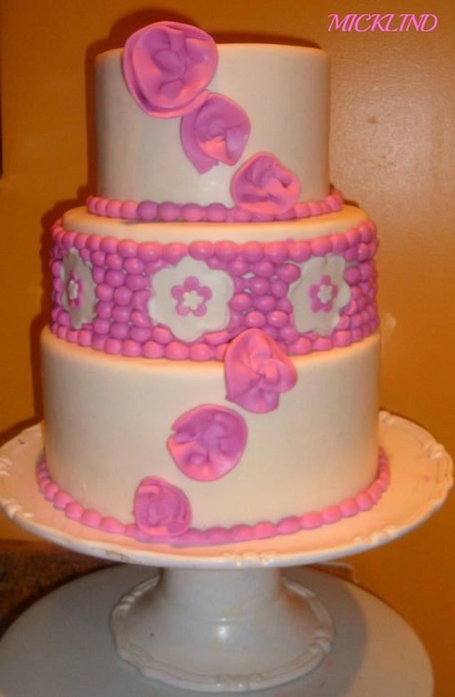 A THREE TIER WEDDING CAKE