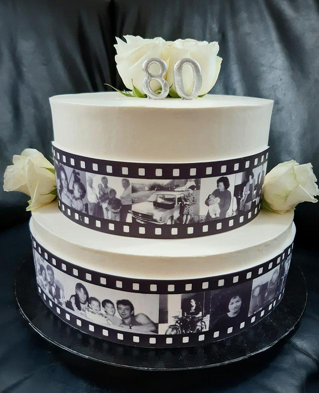 Movie tape cake