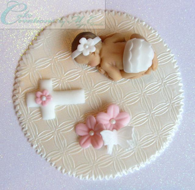 Christening / Baptism Baby Cake Topper