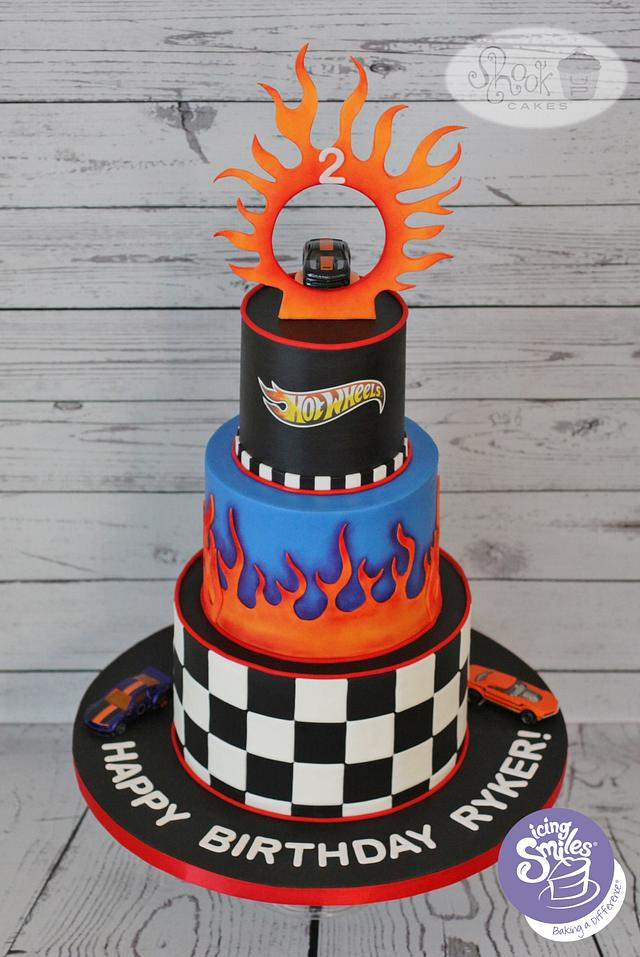 Awesome Hot Wheels Themed Birthday Cake Cake By Leila Shook Cakesdecor Funny Birthday Cards Online Chimdamsfinfo