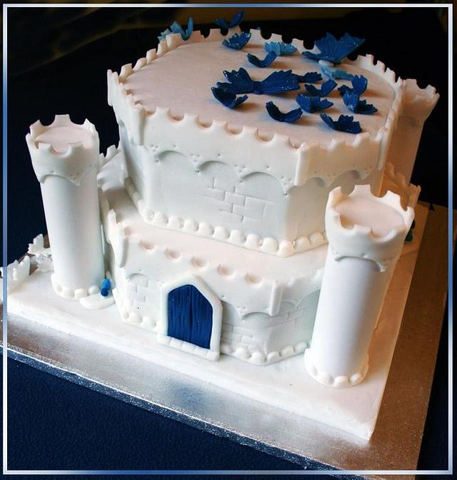 Blue Castle Cake