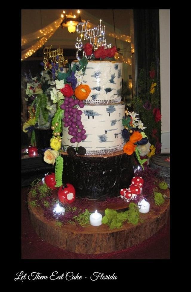 Hurricane Mathew wedding cake