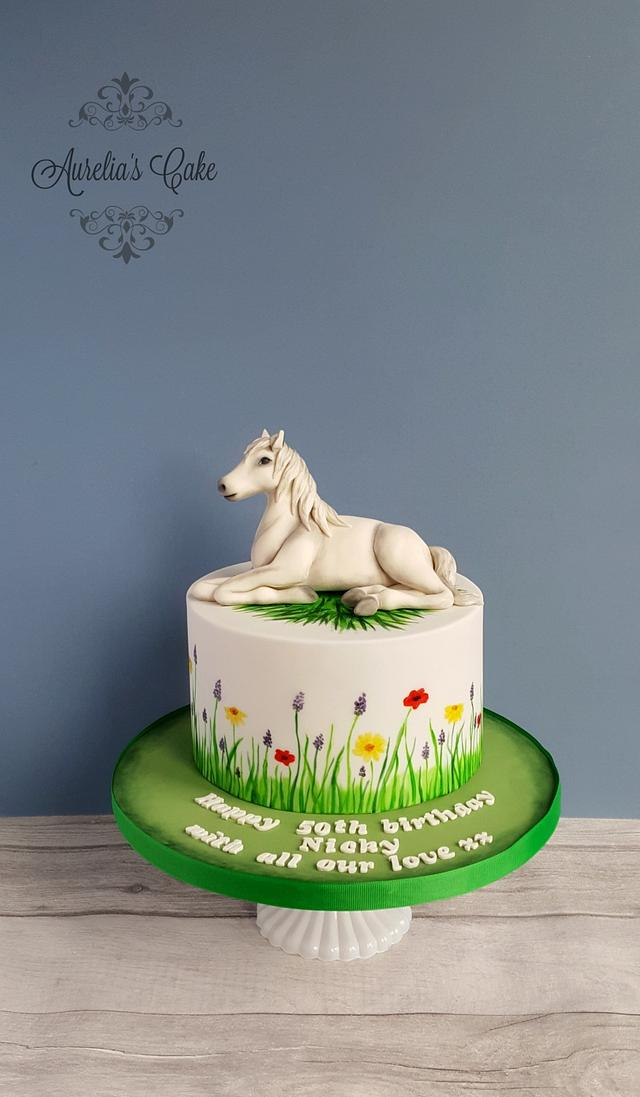 Pleasing Horse Themed Cake Cake By Aurelias Cake Cakesdecor Funny Birthday Cards Online Alyptdamsfinfo