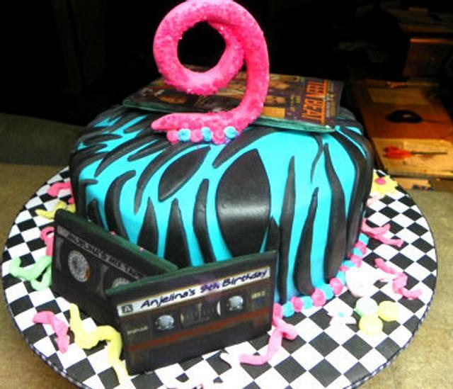 80's Dancy Party Cake