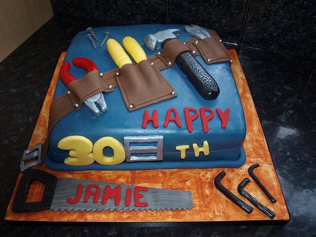 Tool belt cake