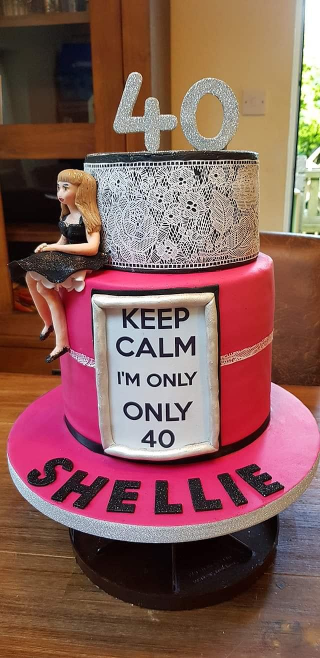 Incredible 40Th Birthday Cake Cake By Yvonne Cakesdecor Funny Birthday Cards Online Eattedamsfinfo