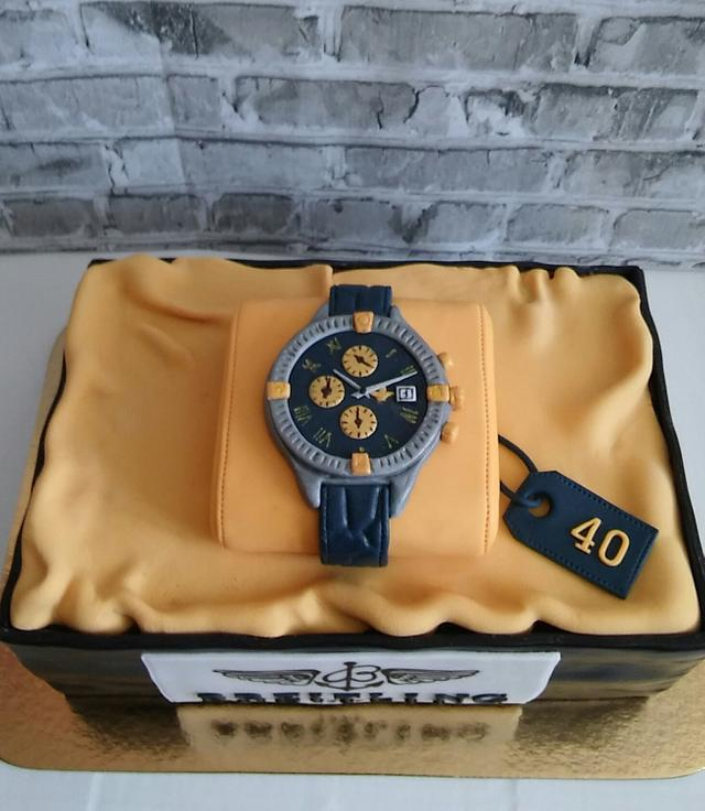 Breitling watch cake