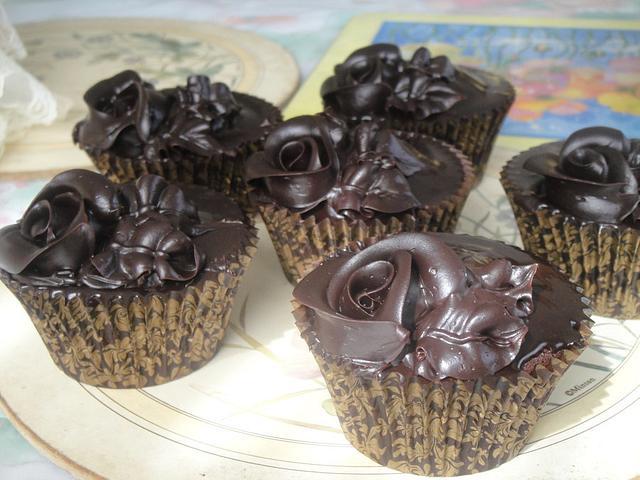 Chocolate Roses Cupcakes