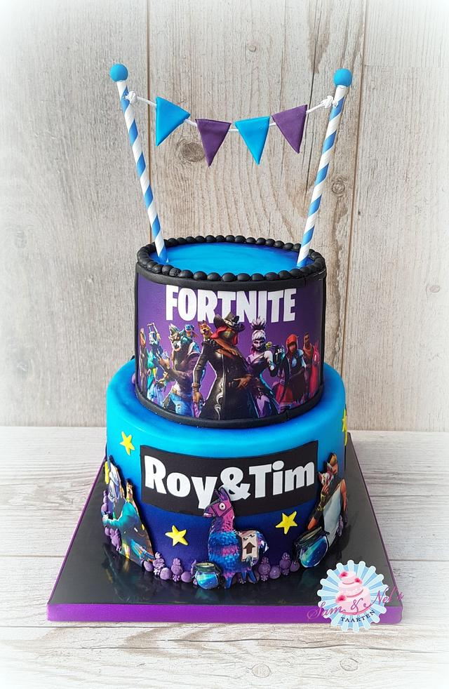 Fortnite edible image cake