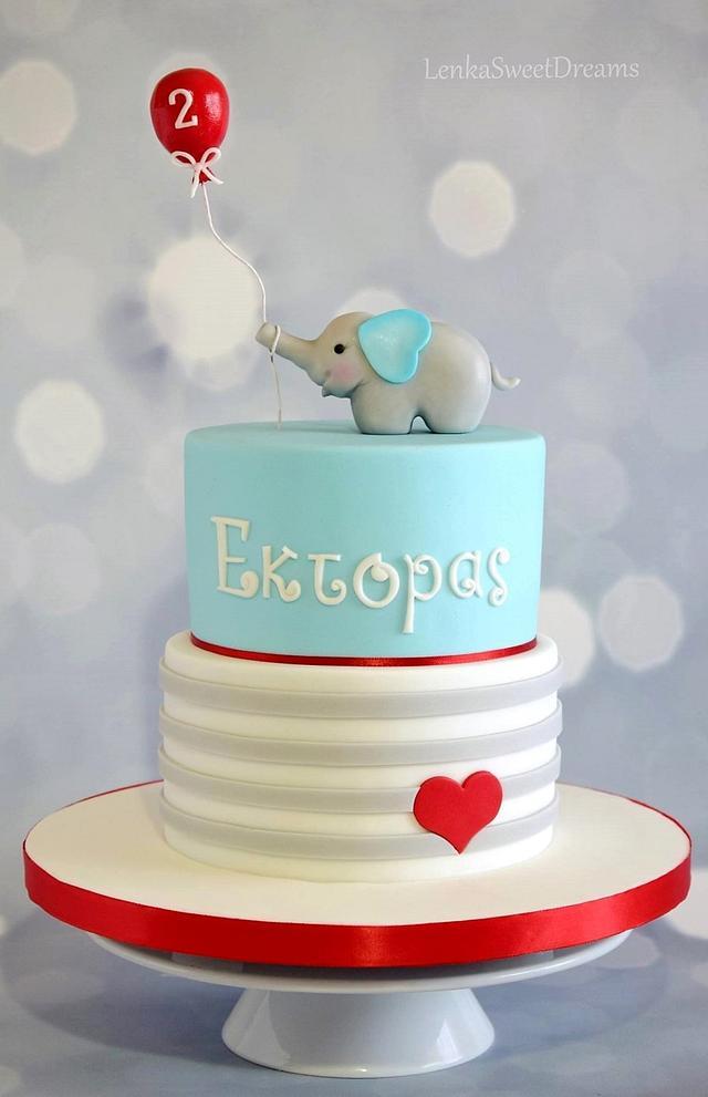 Birthday cake for a little boy.